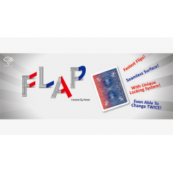 Modern Flap Card (Red to Blue Face Card) by Hondo wwww.magiedirecte.com