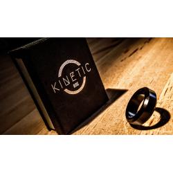 Kinetic PK Ring (Black) Beveled size 9 by Jim Trainer - Trick wwww.magiedirecte.com