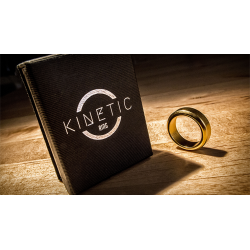 Kinetic PK Ring (Gold) Beveled size 11 by Jim Trainer - Trick wwww.magiedirecte.com