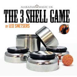 Three Shell Game (Gimmicks and Online Instructions) by Leo Smetsers and Alakazam Magic - Trick wwww.magiedirecte.com