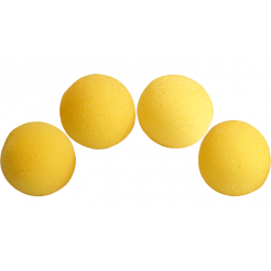 3 inch Super Soft Sponge Ball (Yellow) wwww.magiedirecte.com