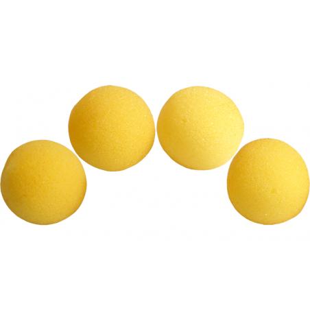 Balles Mousse 7.5 cm Jaune Super Soft wwww.magiedirecte.com