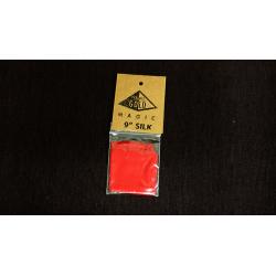Foulard 22.5 cm Soie Rouge Vif - Pyramid Gold Magic wwww.magiedirecte.com