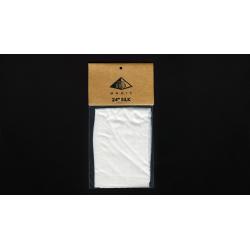 Foulard 60 cm Soie Blanc - Pyramid Gold Magic wwww.magiedirecte.com