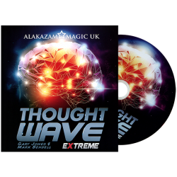 Thought Wave Extreme (Props and DVD) by Gary Jones & Alakazam Magic - DVD wwww.magiedirecte.com