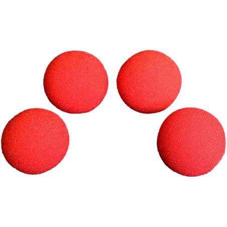 Balle Mousse 4cm Rouge Super Soft wwww.magiedirecte.com