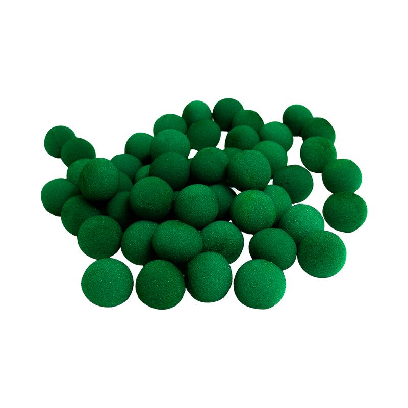 Balle Mousse 4 cm Verte Super Soft pack de 50 Balles wwww.magiedirecte.com