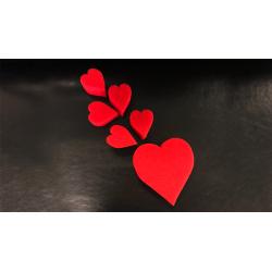 Sponge Heart Set (Red) by Goshman wwww.magiedirecte.com