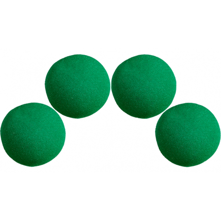 Balle Mousse 2,50 cm Verte super Soft wwww.magiedirecte.com