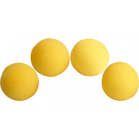 Balle Mousse 4 cm Jaune Ultra Soft wwww.magiedirecte.com
