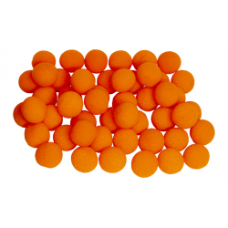 Balle Mousse 2,50 cm Orange super Soft pack de 50 Balles wwww.magiedirecte.com