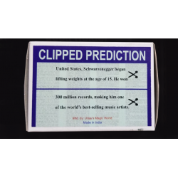 CLIPPED PREDICTION (Schwarzenegger/Elton) by Uday - Trick wwww.magiedirecte.com
