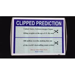 CLIPPED PREDICTION (Schwarzenegger/Elton) - Uday wwww.magiedirecte.com