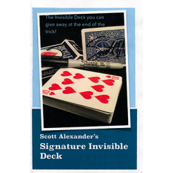 SIGNATURE INVISIBLE DECK - Scott Alexander wwww.magiedirecte.com