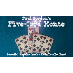 FIVE CARD MONTE - Paul Gordon wwww.magiedirecte.com