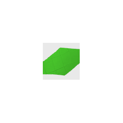 Diamond Cut Silk 18 inch (Green) by Magic by Gosh-Trick wwww.magiedirecte.com