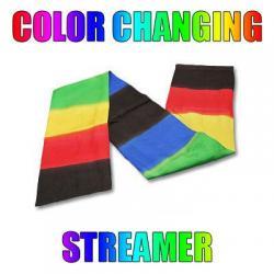 Color Changing Streamer by Vincenzo Di Fatta - Tricks wwww.magiedirecte.com