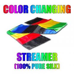 COLOR CHANGING STREAMER 100% SOIE wwww.magiedirecte.com