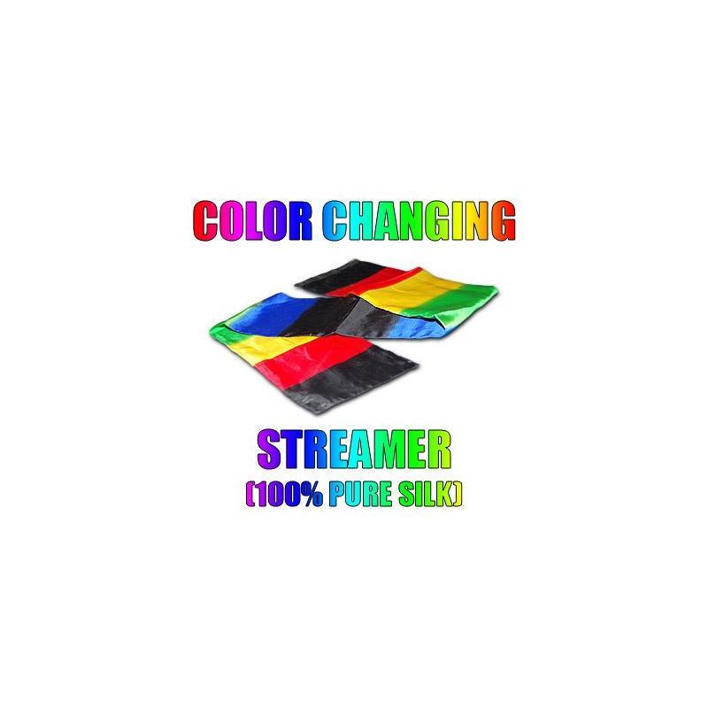 COLOR CHANGING STREAMER 100% SOIE wwww.magiedirecte.com
