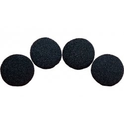 SPONGE BALL 3 inch Ultra Soft H.D (Noir) pack 4 wwww.magiedirecte.com