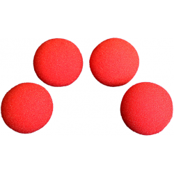 SPONGE BALL 3 inch High Soft H.D (Rouge) Pack de 4 wwww.magiedirecte.com