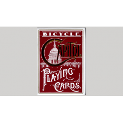 Bicycle Capitol (RED) Playing Cards by US Playing Card wwww.magiedirecte.com