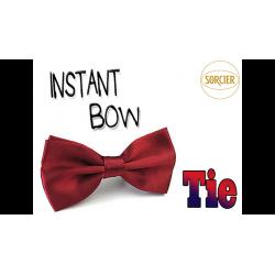 Instant Bow Tie (Red) by Sorcier Magic - Trick wwww.magiedirecte.com