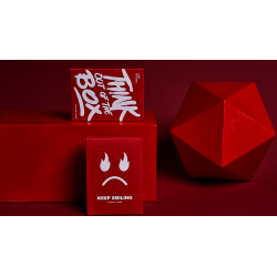 Keep Smiling Red V2 Playing Cards by Bocopo wwww.magiedirecte.com