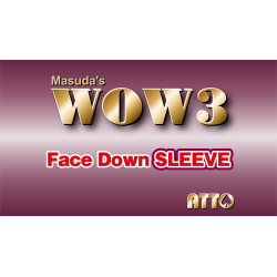 WOW 3 Face-Down Sleeve by Katsuya Masuda - Trick wwww.magiedirecte.com