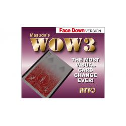 WOW 3 Face-DOWN (Gimmick and Online Instructions) by Katsuya Masuda - Trick wwww.magiedirecte.com
