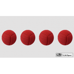 Rope Balls 1 inch / Set of 4 (Red) by Mr. Magic - Trick wwww.magiedirecte.com