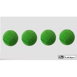 Rope Balls 1 inch / Set of 4 (Green) by Mr. Magic - Trick wwww.magiedirecte.com