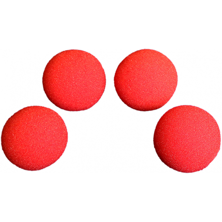 Balles Mousse 7.5 cm Rouge Super Soft wwww.magiedirecte.com