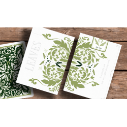 Leaves Collector's (White) Playing Cards by Card House Company wwww.magiedirecte.com