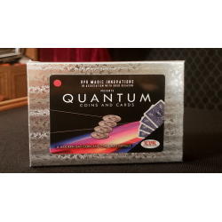 Quantum Coins (UK 10 Pence Blue Card) Gimmicks and Online Instructions by Greg Gleason and RPR Magic Innovations wwww.magiedirec
