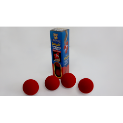 Balle Mousse 5 cm - Rouge Packs de 4 - par Loftus wwww.magiedirecte.com
