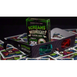 Screams at Midnight Playing Cards (3D-Glasses INCLUDED) wwww.magiedirecte.com