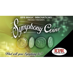 Symphony Coins (US Quarter) Gimmicks and Online Instructions by RPR Magic Innovations - Trick wwww.magiedirecte.com