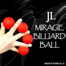 MIRAGE BILLIARD BALLS - (Rouge, 3 Balles et 1 Coquille) wwww.magiedirecte.com