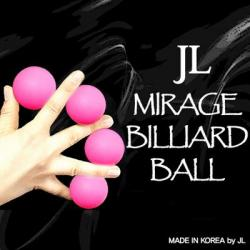 MIRAGE BILLIARD BALLS  (Rose, 3 Balles et 1 Coquille) wwww.magiedirecte.com