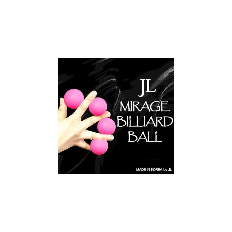 MIRAGE BILLIARD BALLS  (Rose, 3 Balles et 1 Coquille) wwww.magiedirecte.com