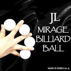 MIRAGE BILLIARD BALLS  (Blanc, 3 Balles et 1coquille) wwww.magiedirecte.com