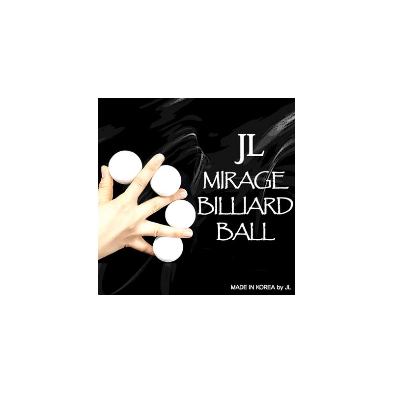 MIRAGE BILLIARD BALLS 2 inch (Blanc, 3 Balls et 1 Coquille) wwww.magiedirecte.com