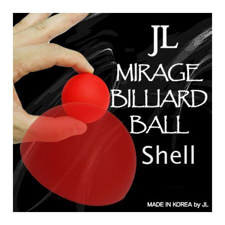 MIRAGE BILLIARD BALLS 2 Inch (Rouge, 1 coquille) wwww.magiedirecte.com