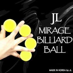 MIRAGE BILLIARD BALLS (Jaune, 3 Balles et 1 Coquille) wwww.magiedirecte.com
