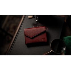 LUXURY LEATHER PLAYING CARD CARRIER (Rouge) wwww.magiedirecte.com