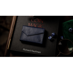 LUXURY LEATHER PLAYING CARD CARRIER (Bleu) wwww.magiedirecte.com