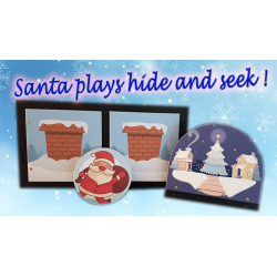 SANTA PLAYS HIDE AND SEEK (PROFESSIONAL MODEL) by Magie Climax - Trick wwww.magiedirecte.com