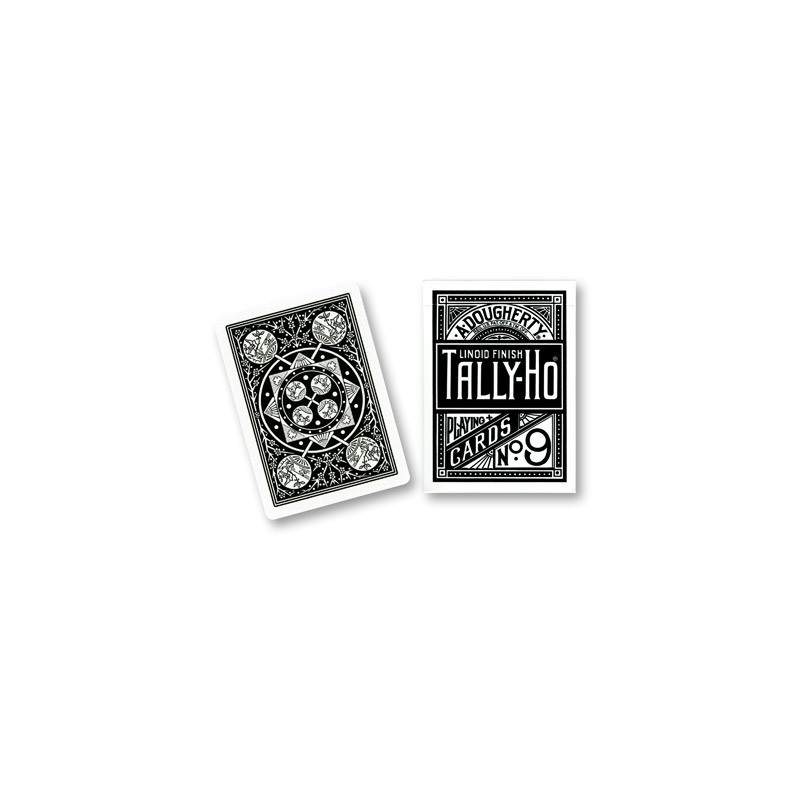 Cartes Tally Ho Fan Back (Noir) wwww.magiedirecte.com