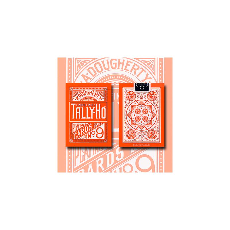 Tally Ho Reverse Fan back (Orange) Limited Ed. by  Aloy Studios / USPCC wwww.magiedirecte.com